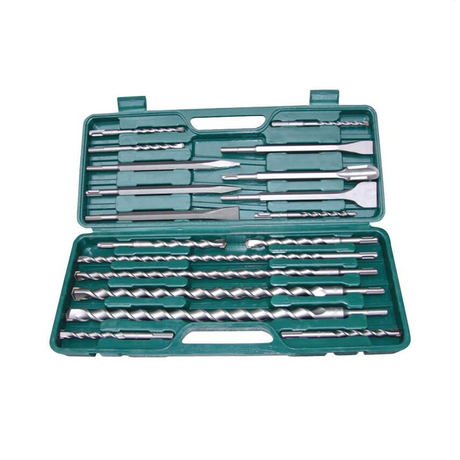18 Piece SDS Plus Hammer Drill Bits and Chisels Set Made in China