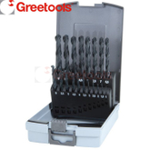 19 Piece HSS Roll Forged Black Finish Drill Bits Set