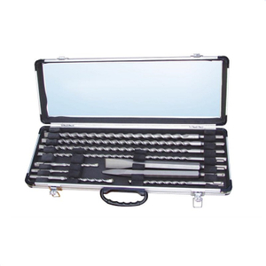 10 Piece SDS+Drill Bits &Chisels in Aluminum Case