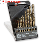 10 Piece HSS TiN Coated Cobalt Drill Bits Set